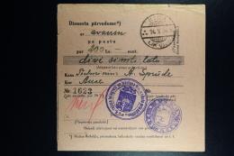 Latvia : Official Money Order 1926 Riga Auce - Lettland