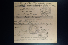 Latvia : Official Money Order 1928 Adiamunde Viorizi Riga - Lettland