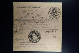 Latvia : Official Money Order 1930 Langenberg Riga - Lettland