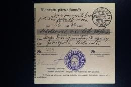 Latvia : Official Money Order 1931 Sesswegen Jekabpils - Lettland