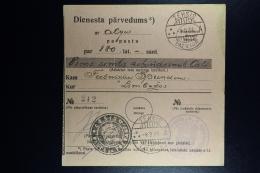 Latvia : Official Money Order 1934 Wenden Limbazi - Lettland