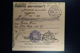 Latvia : Official Money Order 1933 Moritzberg Cesis - Lettland