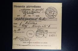 Latvia : Official Money Order 1935 Lennewarden Riga - Lettland
