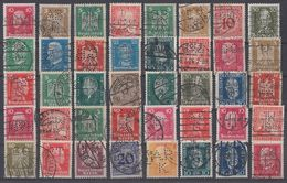 DR Lot 40 Marken Aus 1924-1932 Gestempelt Perfins, Firmenlochungen Ansehen !!!!!!!!!!!!!! - Briefmarken