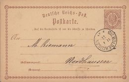 DR Ganzsache K1 Gieboldehausen 11.4.74 - Briefe U. Dokumente