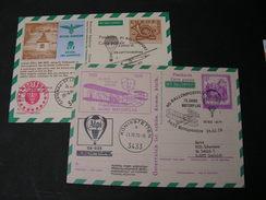 2 Karten Ballonpost 1974,1978 - Par Ballon