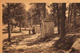 Cpa Font Romeu L'hermitage Chemin De Croix Non Ecrite Timbre Non Oblitere Au Dos - Autres Communes