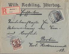 DR R-Brief Mif Minr.103, 104 Jüterbog 26.7.20 - Deutschland