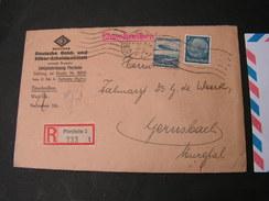 DR Cv. R-cv. 1936 Pforzheim - Cartas