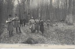 CHATEAUROUX HALLALI EN FORET EN 1914 BELLE CARTE ANIMEE BON ETAT - Chateauroux