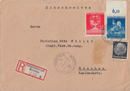 DR Orts-R-Brief Mif Minr.512,770,771 OR Telegraphenamt München 5.8.41 - Briefe U. Dokumente