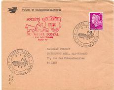 1968 - Paris - Oblitération Temporaire Du Musée Postal + Cachet Des Amis Du Musée Postal (tp N° 1536) - Marcophilie (Lettres)