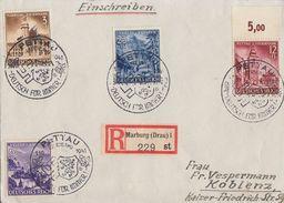 DR R-Brief Mif Minr.806,807,808,809 SST Pettau 1.10.41 - Briefe U. Dokumente