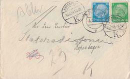 DR Brief Mif Minr.515,521 Emden 8.12.34 Gel. Nach Dänemark Devisenkontrolle - Briefe U. Dokumente