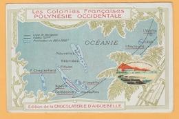C.11 Océanie Carte Postale  De La Polynésie = Chocolat Aiguebelle - Oceanië (1892-1958)