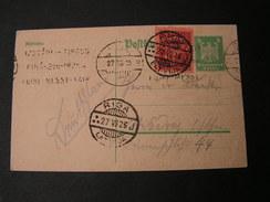 DR Karte In Letteland Gebraucht 1925  Riga - Lettland