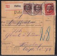 Bayern Paketkarte Mif Minr.2x 135IIA, 167A Plattling - Bayern