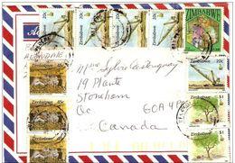 2- ZIMBABWE Belle Enveloppe Nature Destination Canada - Zimbabwe (1980-...)