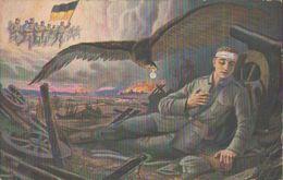 Traum Des Verwundeten Kriegers, Künstler-Feldpostkarte, K.S. Armierungs-Bataillon 22, Militär, Deutsches Reich, WKI - Guerra 1914-18