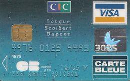 -CARTE-PUCE-MAGNETIQUE-CB-CIC-VISA-10/05-V° SCHLUM SOLEIC IBERIA-E 12-02-TBE - France