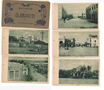 M4743 AFRICA FRANCESE SOMALIA ETIOPIA ERITREA Colonie DJIBUTI Leporello 24 Cartes Postale Splendido Copertina Staccata - Cartoline
