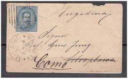 1879 - Bustina Per La Svizzera Rispedita A Como - 1878-00 Umberto I