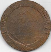 BANCO POPULAR ARGENTINO SOCIEDAD COOPERATIVA DE CREDITO LIMITADA XXV ANIVERSARIO 1887-1912 MEDALLON - Firma's