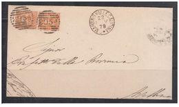 1879 - Piego Senza Testo Doppio Porto Per L'interno - 1878-00 Umberto I