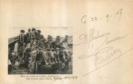 DANS UN CAMP DE TROUPES AMERICAINES  UNE ARRIVEE JUIN 1817 CARTE EN FRANCHISE VOIR LES DEUX SCANS - Guerre 1914-18