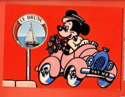 NEN-10 Le Brusc Carte Postale ParfuméeWalt Disney.  En Relief. Circulé Sous Enveloppe. - Disney