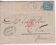 1879 - Piego Per La Francia Con Testo - 1878-00 Umberto I
