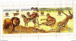 "1997 Mali Wild Cats Lions Cheetah Leopard ""Lions International""  Miniature Sheet Of 4 MNH  CHEAPER THAN BUYING SET!!! - Mali (1959-...)"