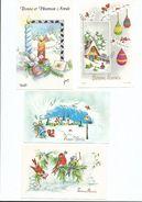 Lot De 4 Carte ( S) Mignonnette Bonne Année - 1970 Env - Dont 2 écrites - Nouvel An