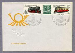 DDR Germany 1980 Cover Brief Schmalspurbahnen In Der DDR Trains Railway Sonderstempel Berlin - Trains