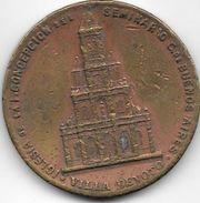 IGLESIA DE LA INMACULADA CONCEPCION DE VILLA DEVOTO BUENOS AIRES MEDALLA ORIGINAL DE CONSAGRACION AÑO 1899 POR EL ARZOBI - Firma's