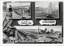 SALUTI DA VIAREGGIO 4 VEDUTE VIAGGIATA  FG - Viareggio