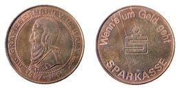 01160 GETTONE TOKEN JETON FICHA ADVERTISING SPARKASSE GRAF EBERHARD V. IM BART 1457-1496 - Unclassified