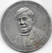 PASTOR SERVANDO OBLIGADO PRIMER GOBERNADOR CONSTITUCIONAL DE BUENOS AIRES 1853-1857 MEDALLON MILITAR CONGRESAL CONVENCIO - Firma's