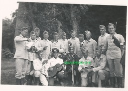 WW2 PHOTO ORIGINALE Soldats Allemands Soirée Ruines à MONTJEAN SUR LOIRE P. Chalonnes Entre Ancenis & Angers MAINE ET 49 - 1939-45