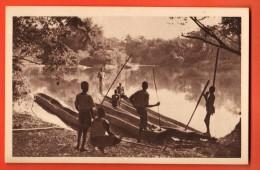 NEN-25  Pêcheurs Congolais. Oeuvre Propagande De La Foi Missions Catholiques.. Circulé Sous Enveloppe - Missions