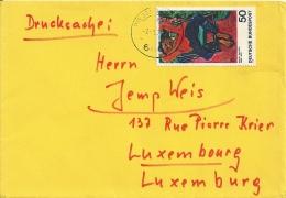 Deutschland 1975 Biebelsheim >> Luxembourg - BRD