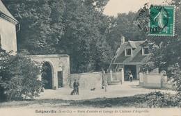 Boigneville (91 Essonne) Porte Et Garage Chateau D'Argeville Collection CP à Malesherbes Oblit Convoyeur Paris Montargis - France