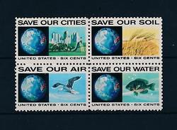 [46869] United States 1970 Marine Life Fish Bird Environment MNH - Marine Life