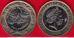 "Falkland Islands 2 Pounds 2004 ""Coinage"" BiMetallic UNC - Falkland Islands"