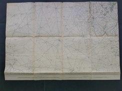 Topografische En Militaire Kaart STAFKAART 1912 Proven Poperinge Hazebrouck Steenvoorde Watou Cassel Rubroeck Wormhoudt - Cartes Topographiques