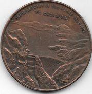 INAUGURACION OBRAS DIQUE EL CADILLAL 27 DE NOVIEMBRE DE 1904 TUCUMAN REPUBLICA ARGENTINA MEDALLON - Firma's