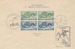 WARSZAWA - 1.-7.5.38 , Block 5 B  - Big Letter, Dispatch = 6,60 € (registered) - 1919-1939 Republic