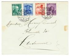 Suisse // Schweiz // Switzerland //  Pro-Juventute  // Lettre Pour Lausanne Série 1938 Cachet Du 15.12.1938 - Lettres & Documents