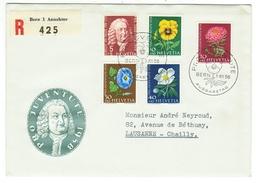 Suisse // Schweiz // Switzerland //  Pro-Juventute  // Lettre Recommandée Pour Lausanne Série 1958 Obl. 1er Jour - Lettres & Documents