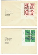 Suisse // Schweiz // Switzerland //  Pro-Juventute  // 5 Lettres Pour Soleure Avec Série En Bloc De 4// 1951 - Pro Juventute